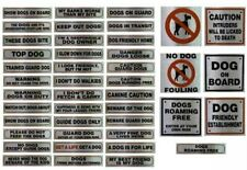 Metallic Silver Sticker Visitors House Dog Beware Pet Warning Signs Messages UK