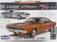 NEW REVELL 1968 DODGE CHARGER R/T 1:25TH SCALE PLASTIC MODEL KIT