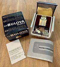 Vintage Bulova Digital Computron N7 LED Driver Watch 2404 2294 Box Case Book NOS