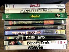9 art house Dvds: Seven Samurai, Dark Days, Stevie, Dancer in the Dark, Amelie +