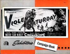 VIOLENT SATURDAY pressbook, CINEMASCOPE, Victor Mature, Richard Egan, Lee Marvin