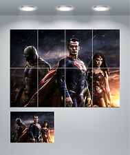 Superman Batman, Wonderwoman Gigante pared arte cartel impresión