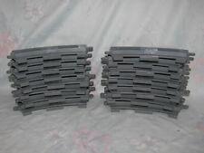 Lego Duplo Grey Train Track Set - 16 Curved Pieces