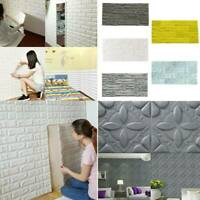 3D PE Foam Brick Stone Rustic Effect Home Decor Self-adhesive DIY Wall Stickers