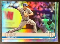 BRANDON LOWE 2019 Topps Series 1 #59 RC Rainbow Foil SP Parallel Tampa Bay Rays