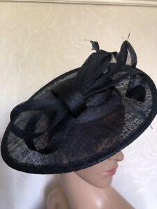 NEW Navy Blue Headband Saucer Fascinator Wedding Ladies Race Day Accessories