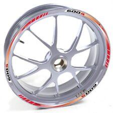 ESES Pegatina llanta Honda plata CBF 600 S 600S 600-S Rojo adhesivo cintas vinil