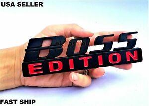 BOSS EDITION Black Universal Side front Hood logo CUSTOM EMBLEM Addition adition