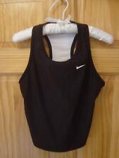 NIKE DRI-FIT Polyester/Spandex Black Sports Top w/ Built-In Bra - Women's L