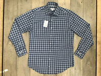 Peter Millar Crown Ease Long Sleeve Button Shirt Mens Medium Blue Plaid NWT $129