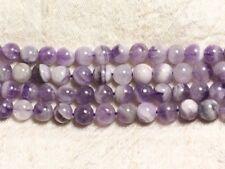 10pc - Perles de Pierre - Améthyste Chevron Boules 8mm   4558550035301