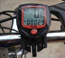 Ciclo bicicletta bici LCD impermeabile CABLATO COMPUTER TACHIMETRO Speedo odometer