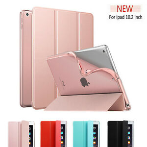 """For iPad 7th Gen 10.2"""" 2019 Smart Soft Silicone TPU Stand Shockproof Case Cover"""