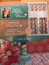 The Pioneer Woman Patchwork 3pc Kitchen Curtain And Valance Set New