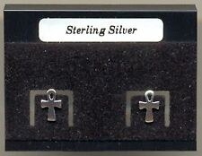 Egyptian Ankh Sterling Silver 925 Studs Earrings Carded