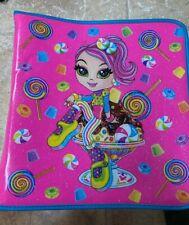 Vintage Lisa Frank Cherri Candy Girl Sundae Glitter 3-Ring Binder Full Zip