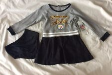 Pittsburgh Steelers NFL Toddler Girls' Black Dress & Diaper Cover, Size 4T- NWT