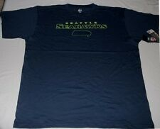 Seattle Seahawks T-shirt 2XL Navy Neon Logos Cool Graphics Majestic NFL fc7566309