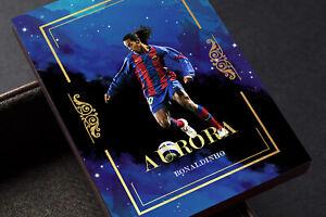 Aurora Ronaldinho Ronaldo d Assis Moreia Barcelona FC Gold Unbranded Soccer Card