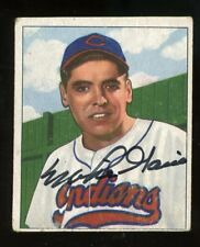 1950 Bowman #147 Mike Garcia Signed Rookie Card. Cleveland Indians. Died 1986