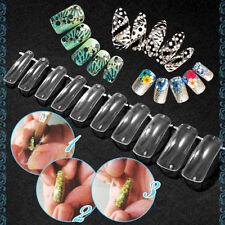 100Pcs New Dual Clear Nail System Form for Uv Acrylic false nail Art mold Tips A