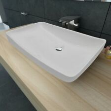 Lavabo de cerámica rectangular colores blanco y negro