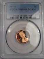 Deep Cameo Proof 1997-s Lincoln Penny. PCGS PR69 DCAM.  #46