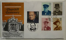 GB - 1974/2014 Churchill Centenary FDC House of Commons & Churchill Rd D/Cancel