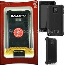 Ballistic Samsung Galaxy Note 4 Tough Jacket IMPACT Protection Case Cover Black
