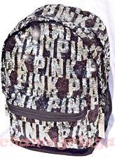 RARE Victoria's Secret PINK MEGA BLING Campus Backpack black & silver sequin NWT