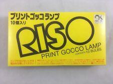 RISO PRINT GOCCO LAMP BULBS, Box Of 10, Japanese Import, Screen Printing Machine