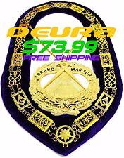 Masonic Regalia GRAND LODGE Metal Chain Collar PURPLE + Pendant