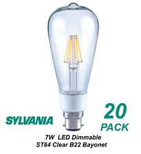 6 X Dimmable LED 7w Vintage Edison Clear Filament Light Globes Bulbs St64 B22