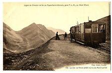 CPA 74 Haute-Savoie Le Fayet-Saint-Gervais gare PLM au Mont-Blanc animé train