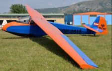L-Spatz 55 Scheibe Germany Glider Airplane Wood Model Replica Big New