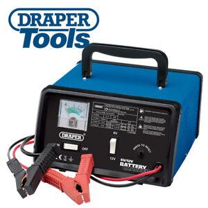 Draper 20486 4.2A Battery Charger 6/12V Car Van MotorCycle Boat 45Ah Support