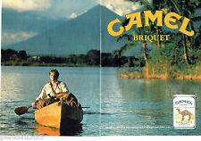 PUBLICITE ADVERTISING 046  1988  Camel briquet par Zippo (2p)