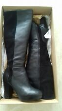 "NEW BERTIE "" SAMANDA"" BLACK LEATHER HIGH LEG BOOTS SIZE UK 5 EU 38"