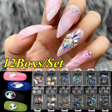 DIAMANTE Crystals AB Shiny Flat Diamond Gems Rhinestones Nail Art Decoration