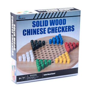 Pip Games Kids/Children Classic Wooden Board Chinese Checkers Game Set 6y+ Toy