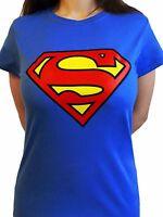 Superman Logo Classic Official DC Comics Supergirl Justice League Womens T-shirt