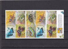 AUSTRALIA - SG2326-2331 MNH 2003 BUGS & BUTTERFLIES - SELF ADHESIVE BOOKLET