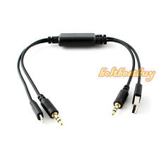 Y LIGHTNING CABLE LEAD FOR BMW / MINI - IPOD / IPAD / IPHONE 5 5S 5C USB AUX NEW