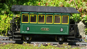 LGB 3040 3rd CLASS 4 WHEEL COACH WITH METAL WHEELS  BOXED G SCALE  PIKO