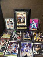 RARE HOFer Ken Griffey Jr Topps Bowman Baseball Card Lot + Plaque Mariners Reds