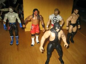 "4 P 6 1/2"" WWE Wrestling Figure Lot AJ Styles Jimmy USO Finn Balor & 1997 Jakks"