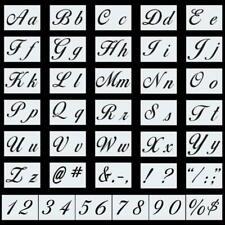 Meetory 36 PCs Letter Stencils Alphabet Stencils Templates Reusable Plastic Art