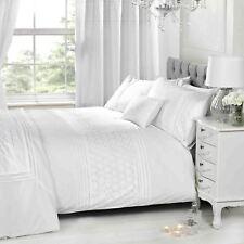 Everdean Blanco Floral Tapa y Funda de Almohada Nórdicas Elegante - Individual