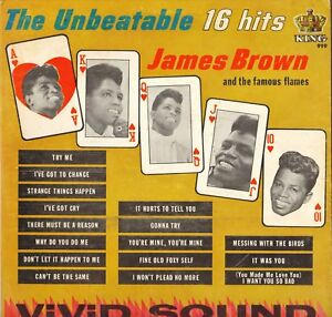 "JAMES BROWN ""THE UNBEATABLE 16 HITS"" RHYTHM & BLUES SOUL 60'S LP KING 919"
