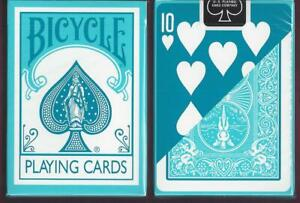 1 DECK Bicycle Fashion aqua reverse-face playing cards